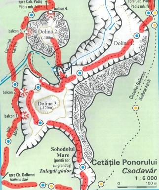 harta detaliu Cetatile Ponorului