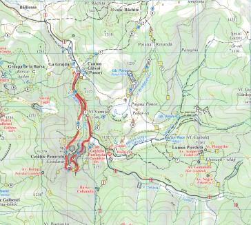 hartă traseu cu plecare din Glăvoi