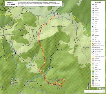 hartă traseu cu plecare din Padiş