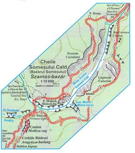 hartă detaliu traseu