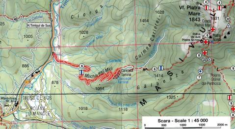 harta traseu Canionul Tamina