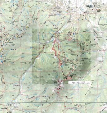 harta localizare Canionul 7 Scari