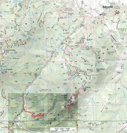 harta localizare Canionul Tamina