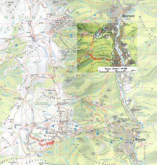 harta localizare Cascada Urlatoarea