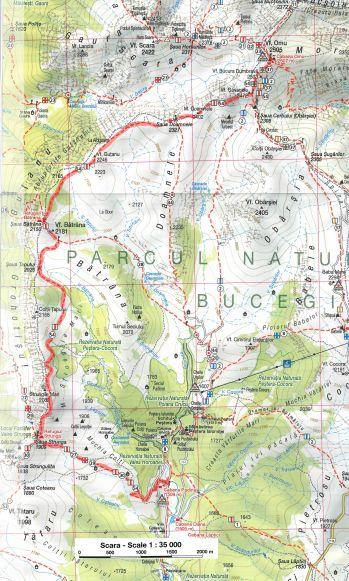 harta traseu Padina-Omu