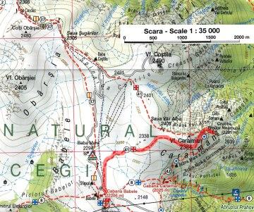 harta Babele-Caraiman