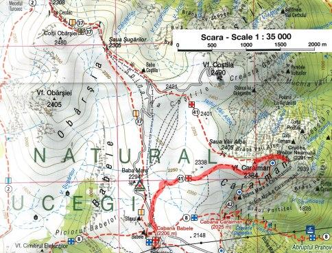 harta Caraiman-Babele varianta 1