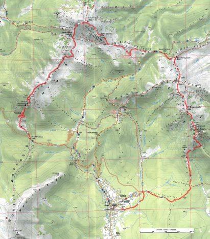 harta Ciucas traseu complet