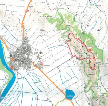 harta traseu Culmea Pricopanului
