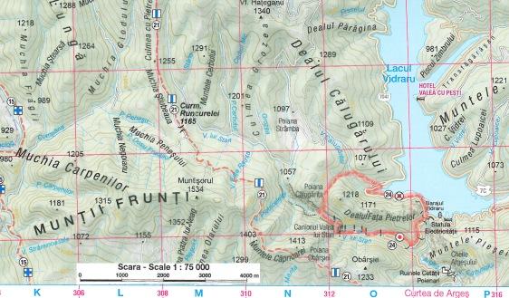 harta traseu Valea lui Stan